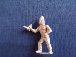 French Gunner with Powder horn, woollen hat, bare chest
