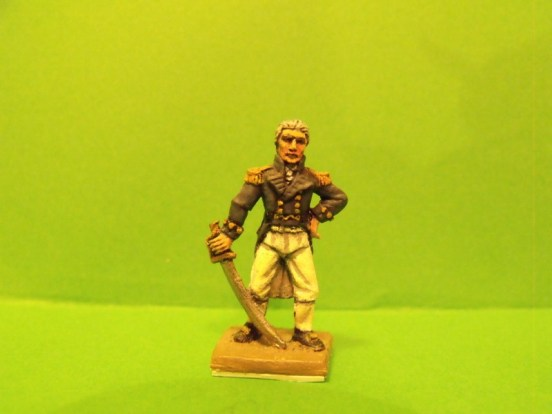 British Officer, Sword, Standing, Bare head