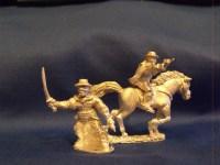 Masked Man in Black (Mounted and Dismounted)