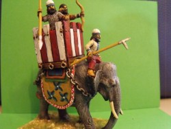 Elephant with Tower, 2 Crew and Mahout