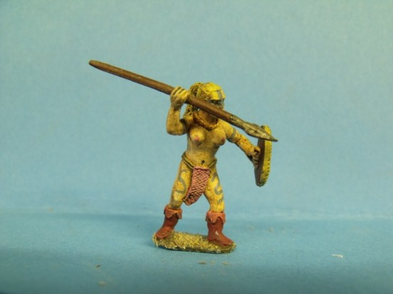 Witchcult Warrior - Naked, Throwing Spear/Javelin