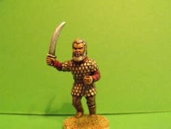 Beastman - Advancing, Curved Sword, Scale Armour