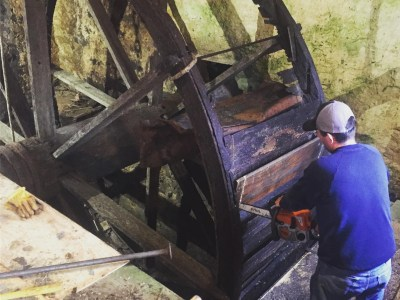 Demolition of the Old Waterwheel