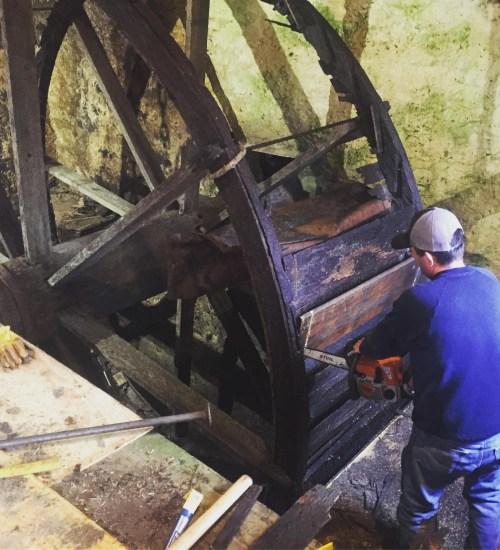 Demolition of the Old Waterwheel