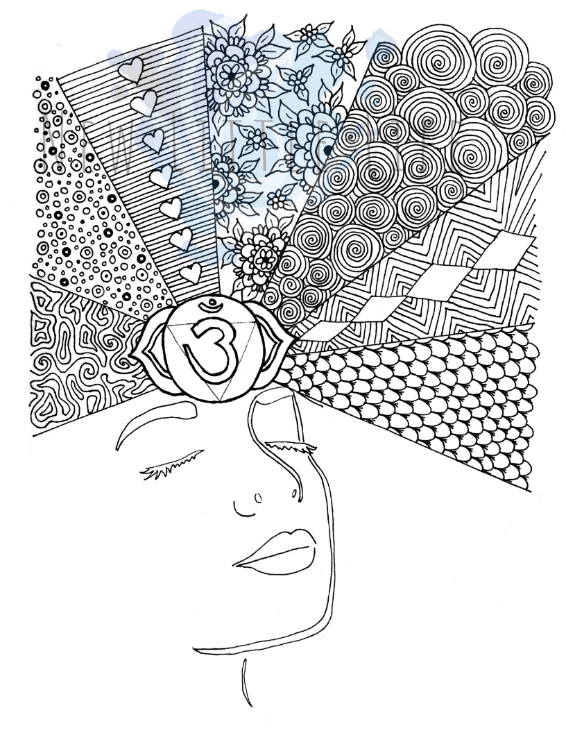 Eye Coloring Page : coloring, Third, Chakra, Coloring, Little