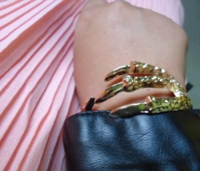 eagle claw gold cuff, accessories, fashion
