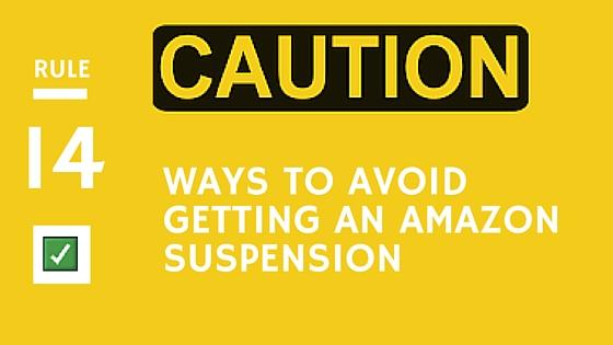 Avoid Amazon Suspension