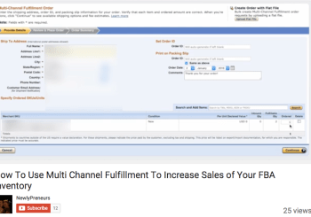<center><b>{VIDEO} How To Use Multi Channel Fulfillment To Increase Sales of Your FBA Inventory</b></center>