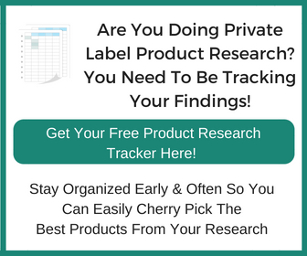 Amazon Private Label Product Research Tracker Banner