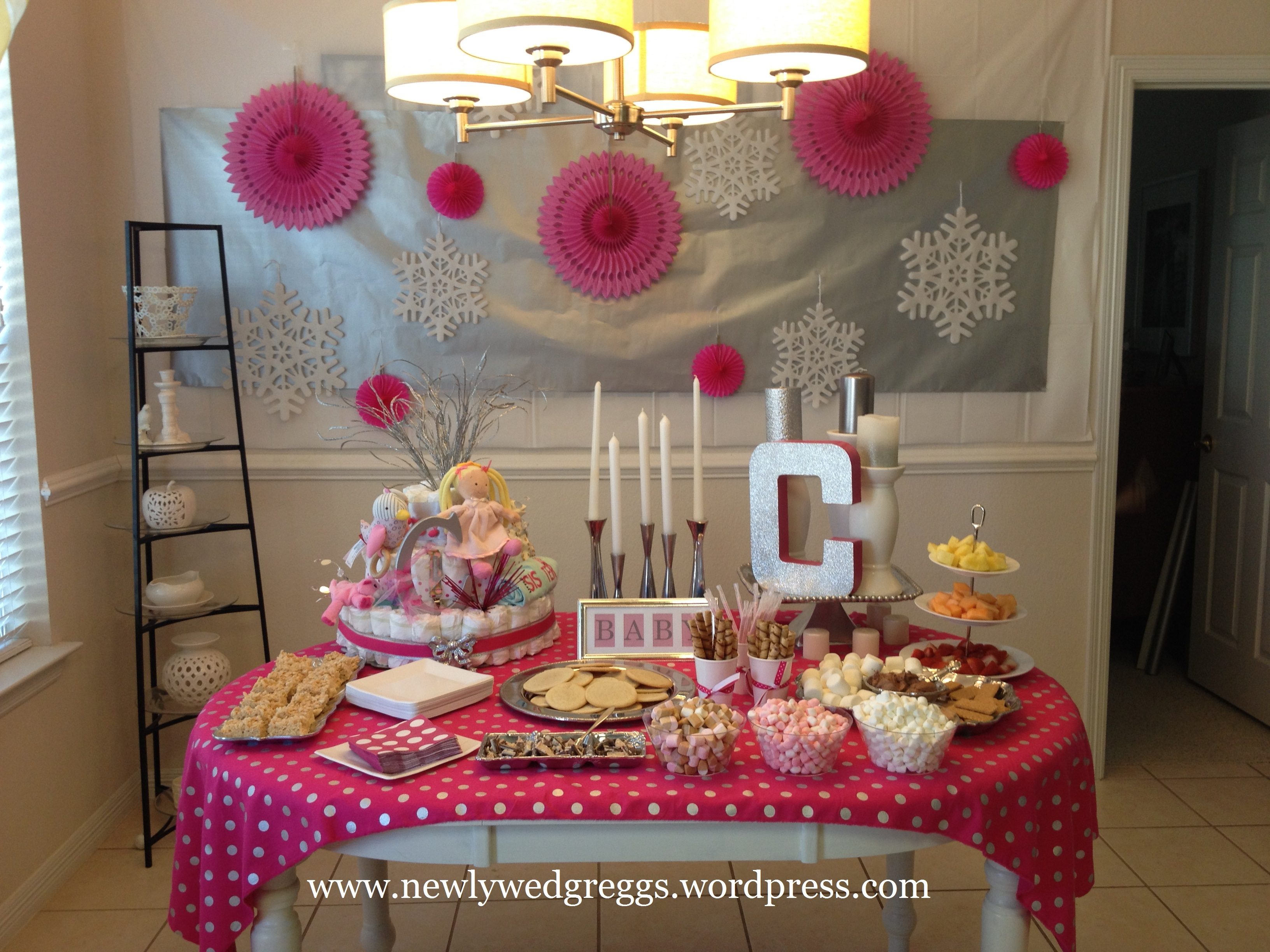 baby its cold outside baby shower  Newlywed Greggs