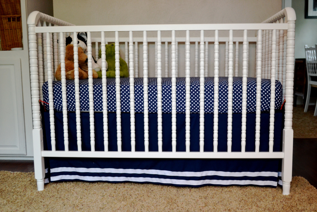 A DIY Crib Skirt From A Flat Sheet NewlyWoodwards