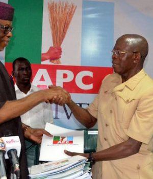 Image result for : Oshiomhole Oyegun APC