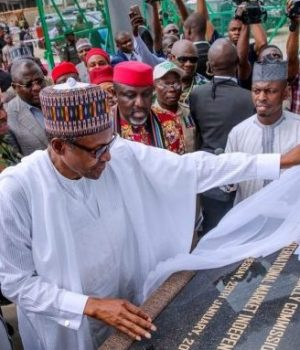 Buhari commissions Ariara Market-Power-Plant-in-Abia