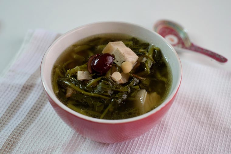 Chinese Watercress Soup (Sai Yong Choi Tong/ (西洋菜汤)