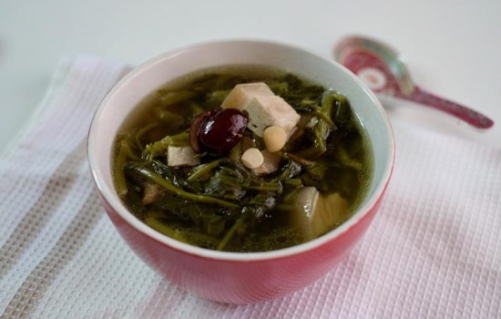 Chinese Watercress Soup (Sai Yong Choi Tong/ (西洋菜汤)
