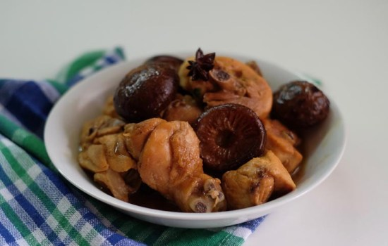 Soy Braised Chicken With Mushroom