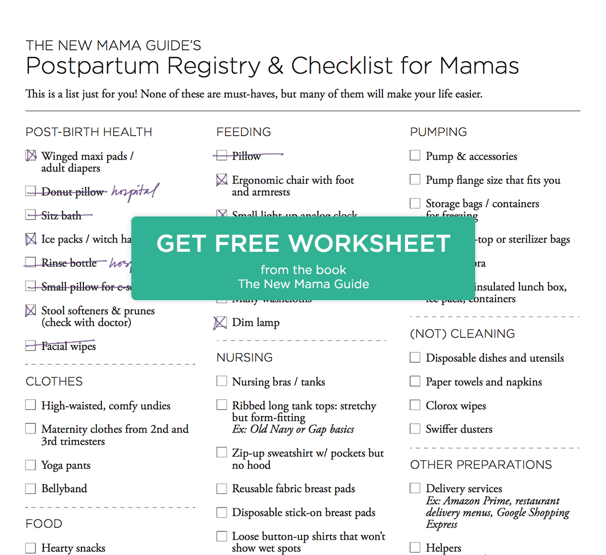 Breastfeeding Worksheet