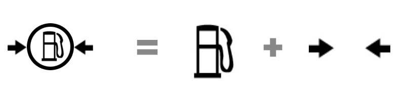 Combinación simbologia de maquinaria pesada