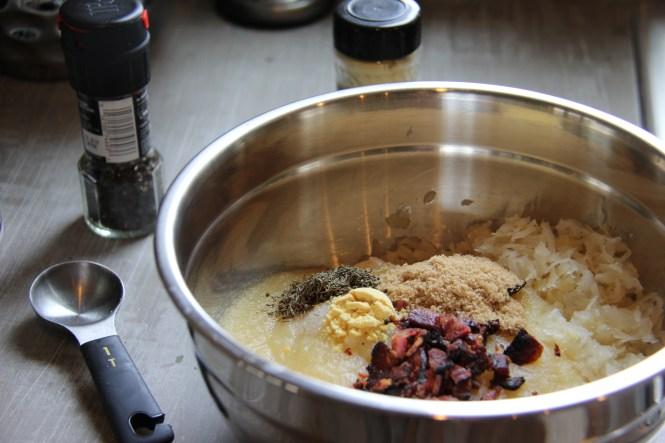 pork, recipe, sauerkraut and applesauce pork chops