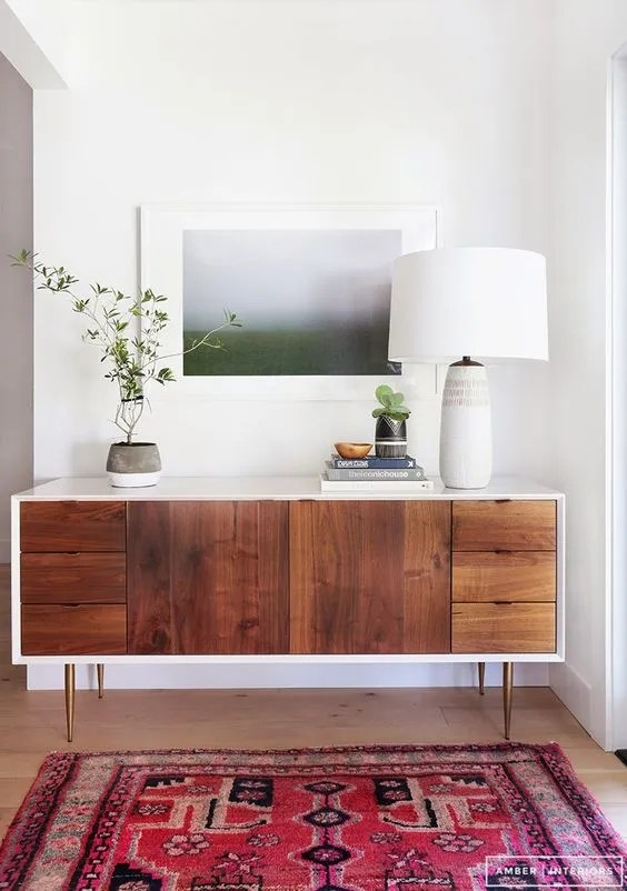 midcentury modern entry way, midcentury modern, modern entry, interior design