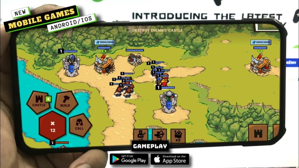 Castlelands - real-time classic RTS strategy game Gameplay | New Mobile Games