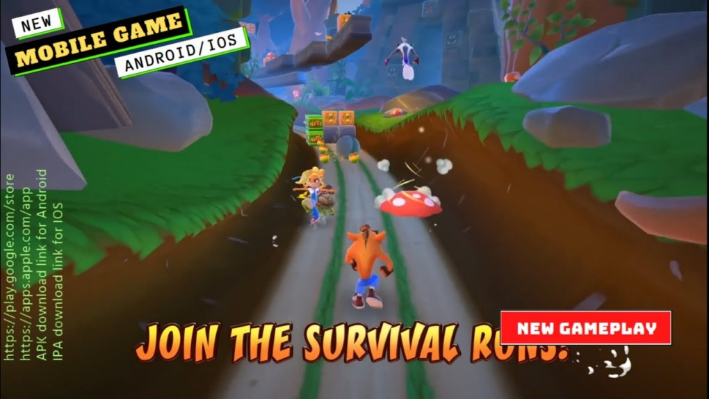 Mobile Games   Crash On the Run Gameplay   New Game 2021