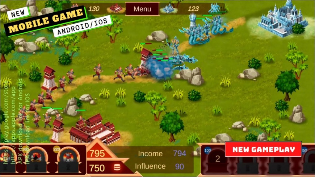 Mobile Games   Towers and Elements Defense Gameplay   New Game 2021