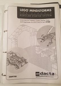 LEGO Dacta Mindstorms for Schools RoboLab Starter System Kit 9780 Teacher Materials