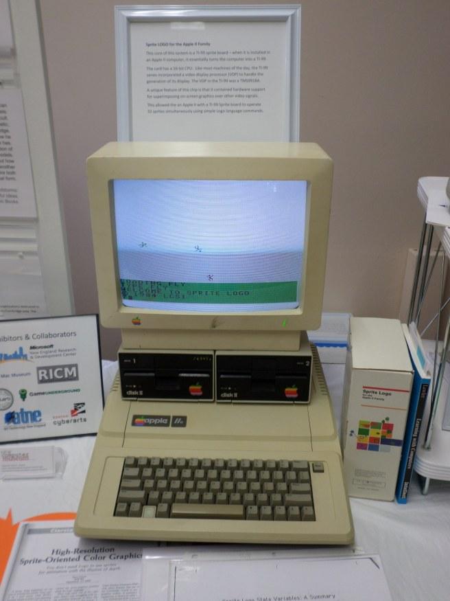 Apple IIe Running Sprite Logo, Word Worlds