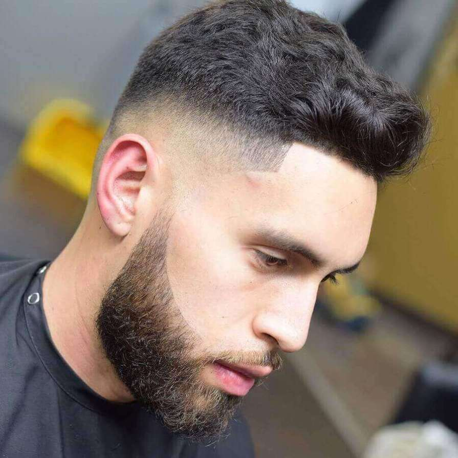 Mid Fade + Curls Cut Short Haircuts For Men
