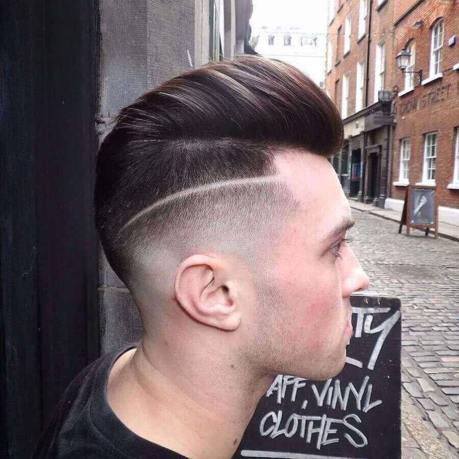 Modern Pompadour Haircuts + Skin Fade Hairstyle