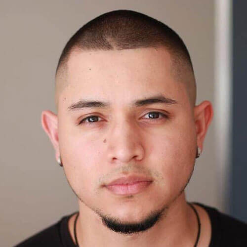 Pure Goatee Without Mustache + Bald Taper Fade Haircut For Boys
