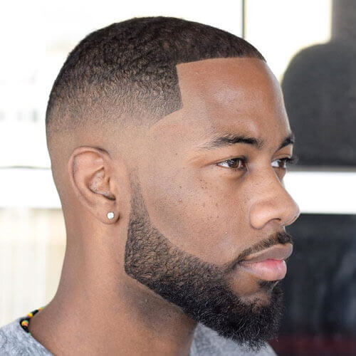 Low Fade + Line Up + Trimmed Beard