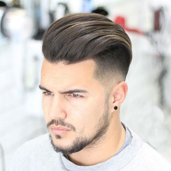 Hairstyles For Oval Faces Men Undercut With Silk Back