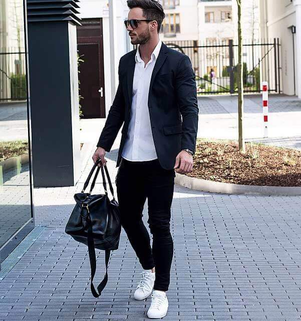 Men's Black Blazer with Jeans For Men