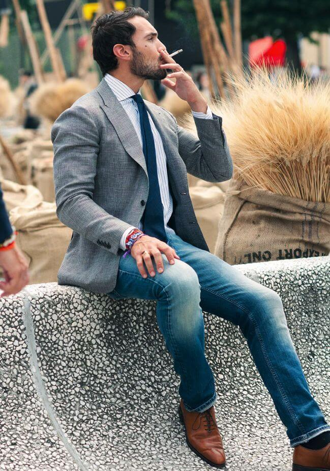 The Grey Blazer With Jeans For Men