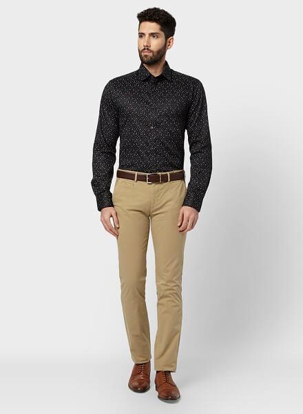 Black Shirt Outfit Ideas for Men 2021-Black Shirt Combination Pants- black shirt matching pants and shoes