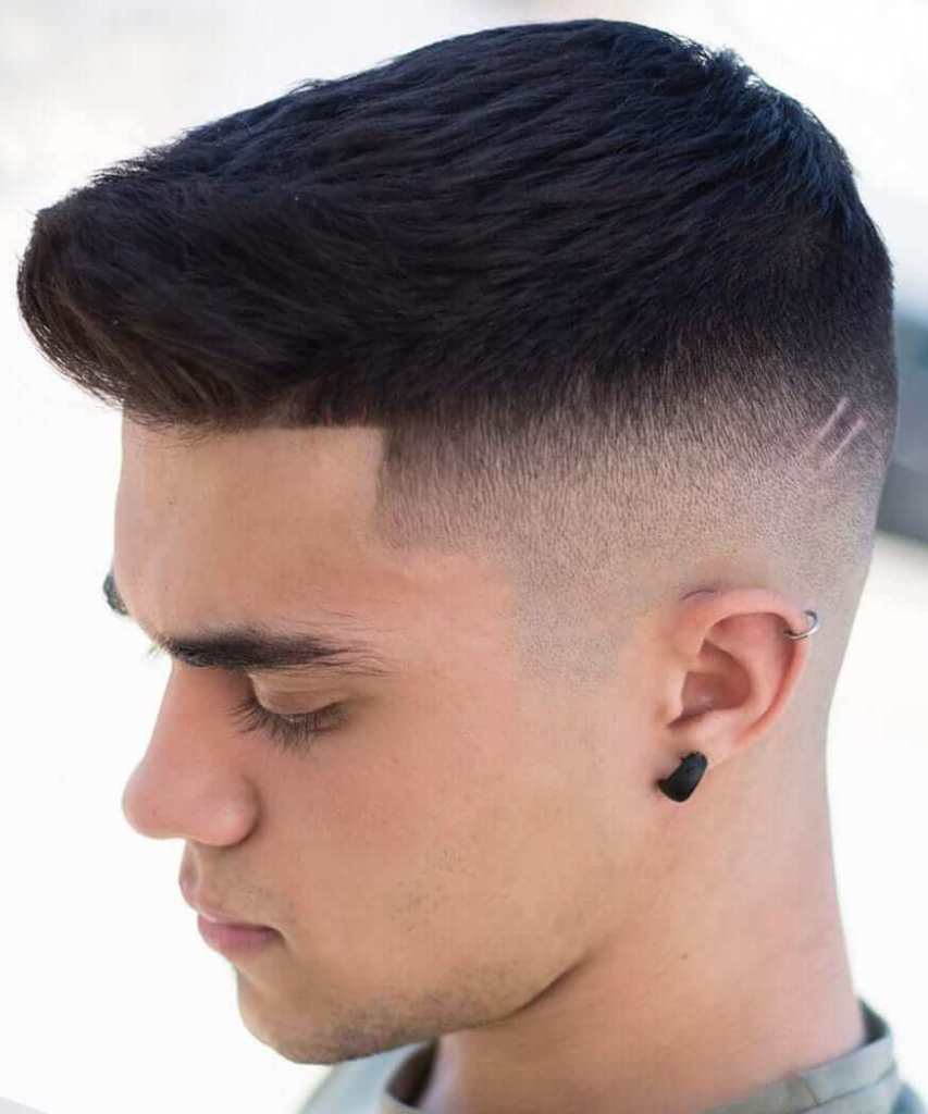 High Fade Crew Cut and Line up