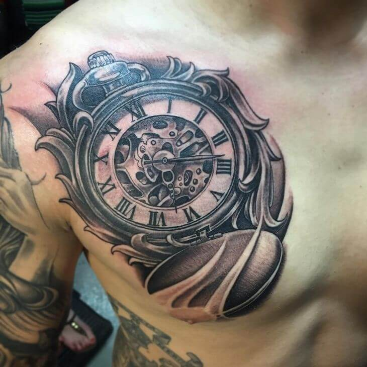 unique chest tattoos for guys-12