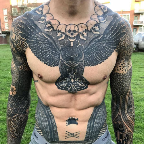 Unique Chest Tattoos for Guys-22