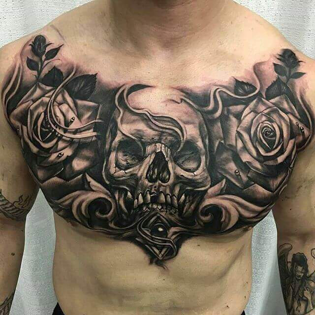 chest tattoos for guys 2021-25
