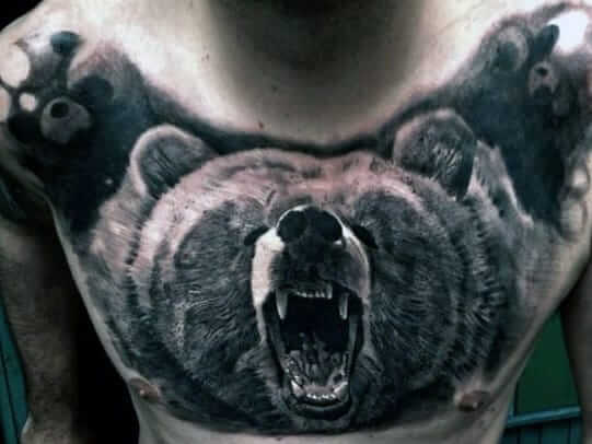 wolf tattoo ideas for chest-62
