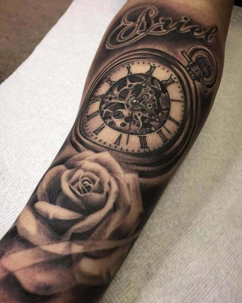 3d Clock tattoos