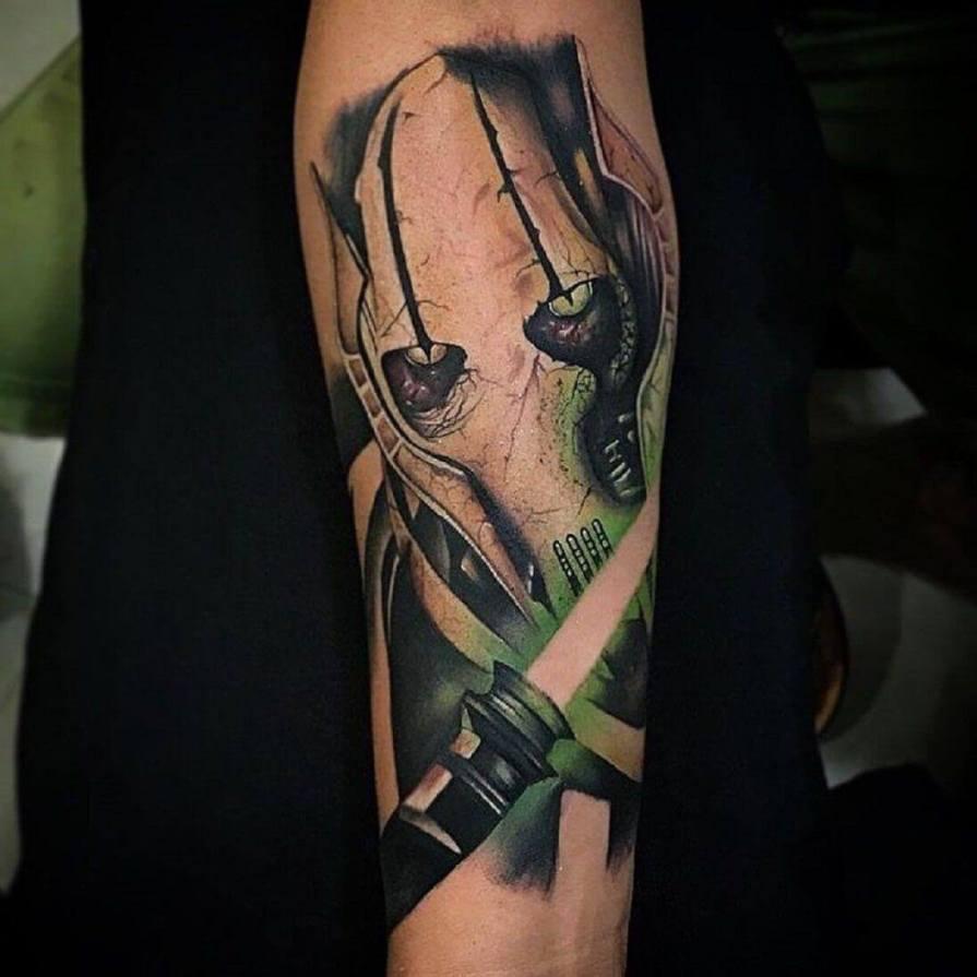 star wars forearm tattoo