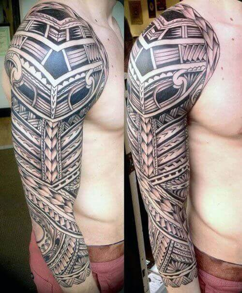 tribal tattoos half sleeve