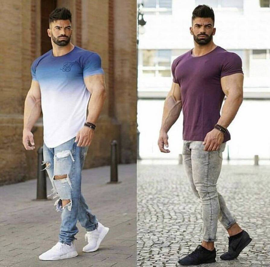 Ripped Jeans For Muscular Guys