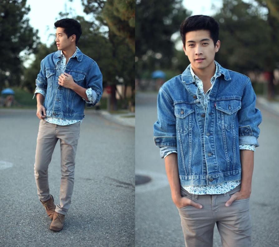 mens jeans shirt