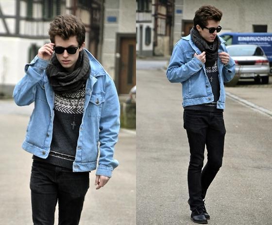 men's style denim shirts