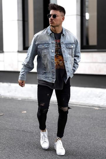 denim outfit ideas for guys