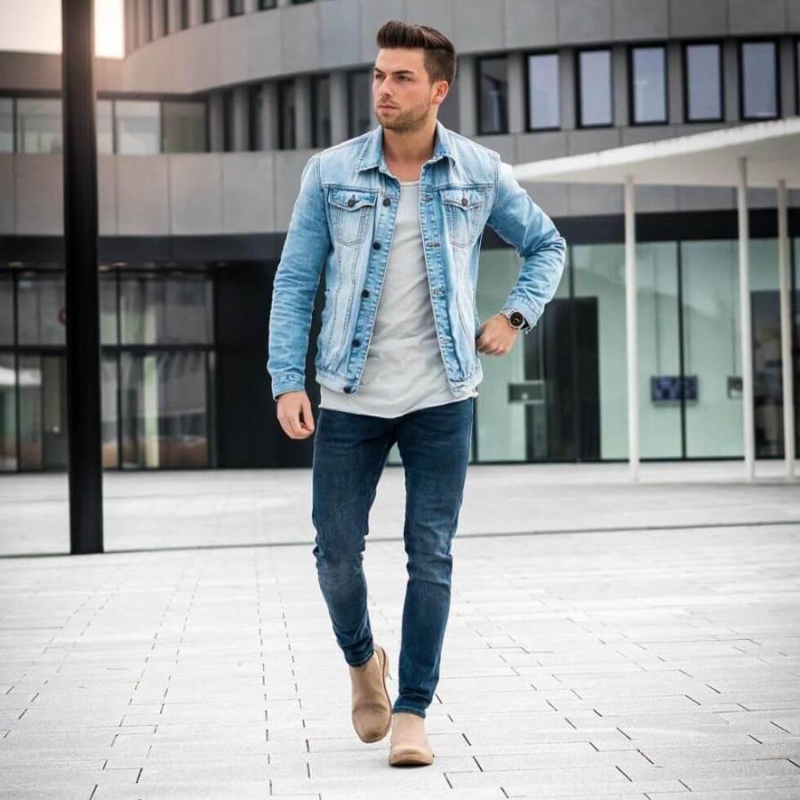 boy jeans shirt combination